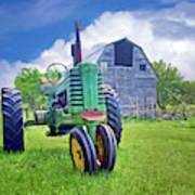 Tractor - On The Farm Art Print
