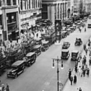 Traffic On Fifth Avenue In 1923 Art Print