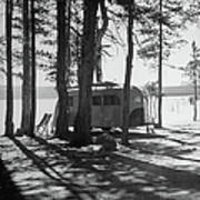 Trailer Park In Yellowstone National Art Print