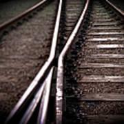 Train Line Crossing Art Print