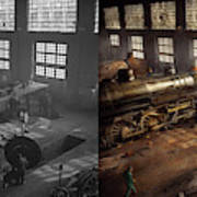 Train - Repair - Third Door On The Right 1942 - Side By Side Art Print