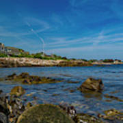 Tranquil Blues Day Kennebunkport Art Print