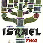 Trans World Airlines - Israel - Vintage Travel Poster Art Print