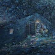 Trapp Family Lodge Cabin Sunrise Stowe Vermont Art Print