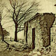 Tree And Ruins Art Print