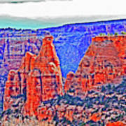 Trees Plateau Valley Color 2871ado National Monument  Art Print