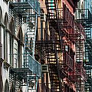 Tribeca Fire Escapes Art Print