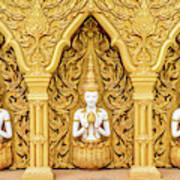 Triple Buddhas, Thailand Art Print