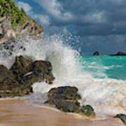 Tropical Beach Splash Art Print