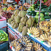 Tropical Fruit At A Street Market In Art Print