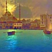 Turkish  Moonlight Art Print