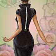Twenty Pearls N Pink Roses Art Print