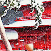 Twenty Views of Tokyo, Zojo Temple, Shiba - Digital Remastered Edition Art Print
