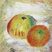 Two Apples, 1875 Art Print