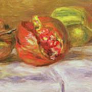 Two Pomegranates Art Print