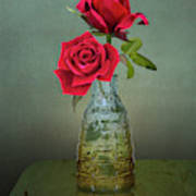 Two Red Roses Art Print