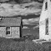Two Sheds In Blue Rocks #2 Art Print