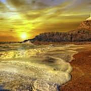 Twr Mawr Lighthouse Sunset Art Print
