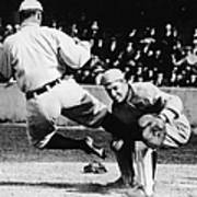 Ty Cobb Sliding Into Catcher Art Print