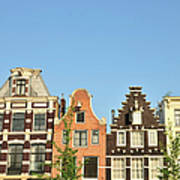 Typical Canal Houses, Amsterdam, The Art Print