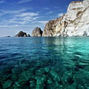 Typical Mediterranean Sea In Italy Art Print