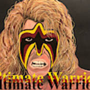Ultimate Warrior Writing Version Art Print