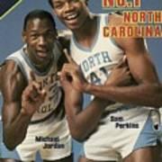 Unc Michael Jordan And Sam Perkins Sports Illustrated Cover Art Print