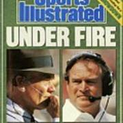 Under Fire Have Nfl Coaching Legends Tom Landry And Chuck Sports Illustrated Cover Art Print