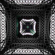 Underneath Of Eiffel Tower, Low Angle Art Print