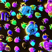 Underwater Glow Art Print