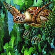 Underwater Mardi Gras Art Print