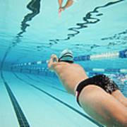 Underwater Swimmer Art Print