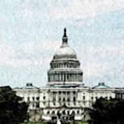 United State Capitol Art Print