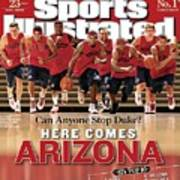 University Of Arizona Basketball Team Sports Illustrated Cover Art Print