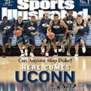 University Of Connecticut Basketball Team Sports Illustrated Cover Art Print