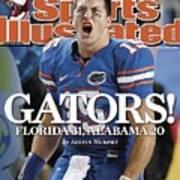 University Of Florida Qb Tim Tebow, 2008 Sec Championship Sports Illustrated Cover Art Print