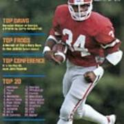 University Of Georgia Herschel Walker Sports Illustrated Cover Art Print