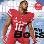 University Of Houston Ed Oliver, 2018 College Football Sports Illustrated Cover Art Print