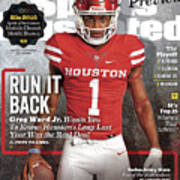 University Of Houston Greg Ward Jr., 2016 College Football Sports Illustrated Cover Art Print