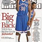 University Of Kansas Julian Wright And Mario Chalmers Sports Illustrated Cover Art Print