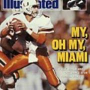 University Of Miami Qb Steve Walsh Sports Illustrated Cover Art Print