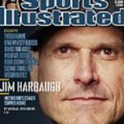 University Of Michigan Coach Jim Harbaugh Sports Illustrated Cover Art Print
