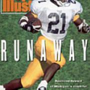 University Of Michigan Desmond Howard Sports Illustrated Cover Art Print