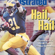 University Of Michigan Desmond Howard Sports Illustrated Cover Art Print