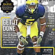 University Of Michigan Jabrill Peppers, 2016 College Sports Illustrated Cover Art Print