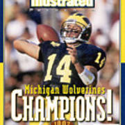 University Of Michigan Qb Brian Griese, 1997 Ncaa National Sports Illustrated Cover Art Print