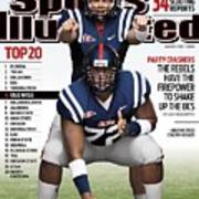 University Of Mississippi Qb Jevan Snead And Daverin Sports Illustrated Cover Art Print