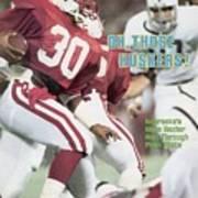 University Of Nebraska Mike Rozier, 1983 Kickoff Classic Sports Illustrated Cover Art Print