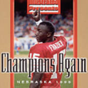 University Of Nebraska Qb Tommie Frazier, 1996 Ibm Fiesta Sports Illustrated Cover Art Print