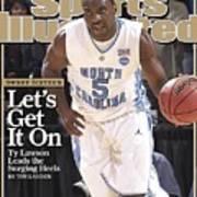 University Of North Carolina Ty Lawson, 2009 Ncaa South Sports Illustrated Cover Art Print